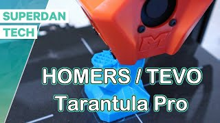 Homers / Tevo NEW Tarantula Pro 3D printer   First power ON and print tests