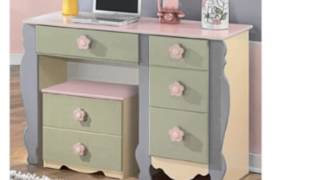 Multi-colored Pastel Youth Desk And Rolling Box