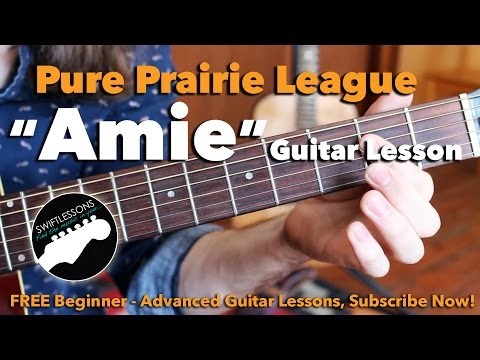 Pure Prairie League - Amie - Intro Solo- Major Lead Guitar Lesson