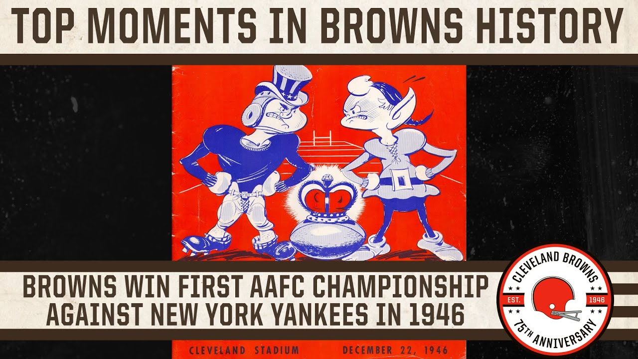 Top 10 Moments: Browns win first AAFC Championship against the New York Yankees on December 22, 1946