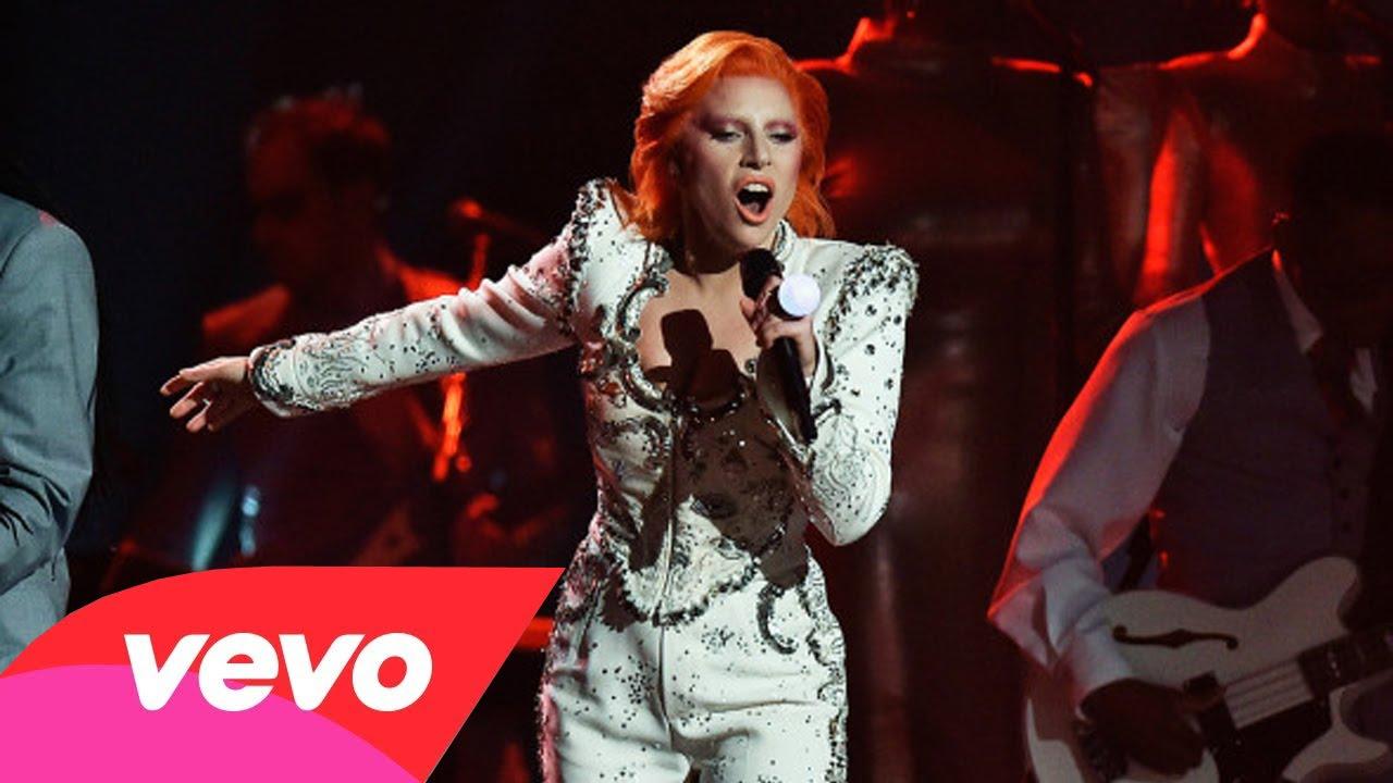 Lady Gaga 2016 Grammy Awards David Bowie Tribute Performance Makeup Youtube