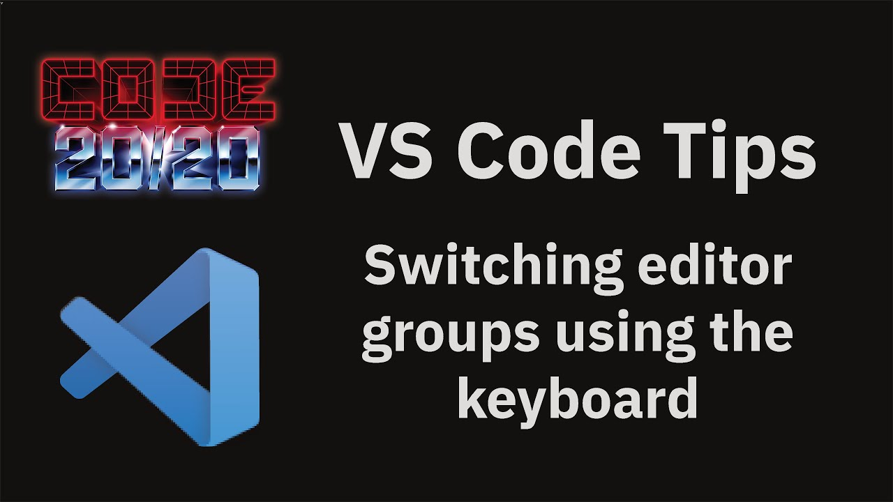 Switching editor groups using the keyboard