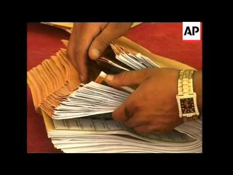 Counting underway for national elections