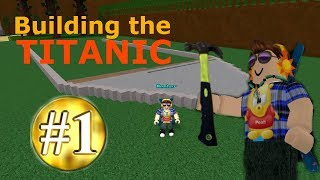 Building The TITANIC (part one) [Speed build] in Roblox Build A Boat for Treasure