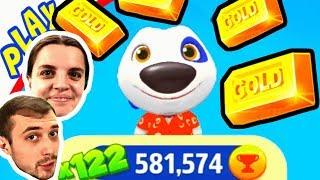 Гавайский Хэнк бежит за ЗОЛОТОМ для БолтушкИ и ПРоХоДиМЦа! #304 Игра для Детей - Бег за золотом