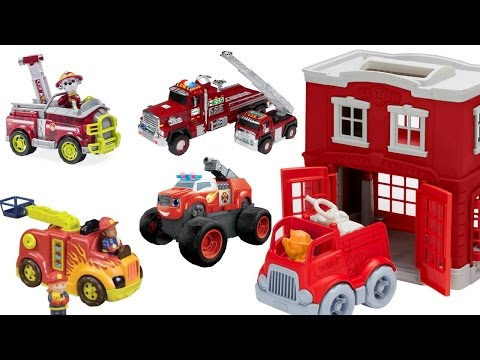 Thumbnail: Learn Colors for Children with Green Toys Fire Station Paw Patrol Fire Trucks Blaze and Hess