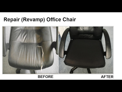 office chair upholstery repair recliner that stands you up revamp youtube