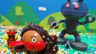 アンパンマン バイキンマン おもちゃ スライムあそび ビーズ だだんだん あんぱんまんごう♡アンパンおねえさん♡ thumbnail