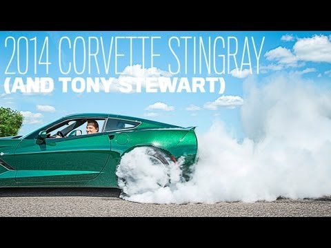 2014 Chevrolet Corvette Stingray Burnout with Tony Stewart ...