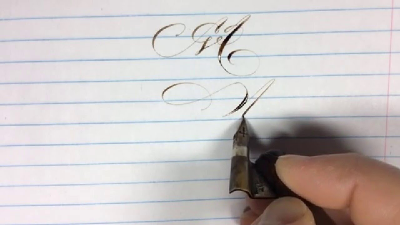 Real Time Pointed Pen Calligraphy Practice The Letter M