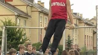 Уличные гимнасты Великого Новгорода