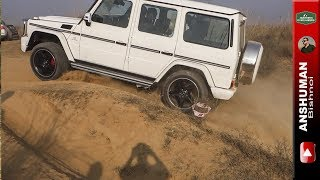 Mercedes G63 AMG: Offroad, Gurgaon. Awesome Exhaust note, Poor Ground Clearance.