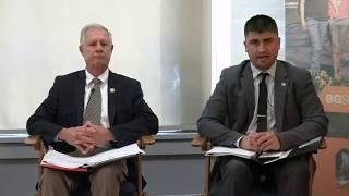 Steve Arndt and Joe Helle debate