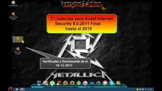 Licencias para Avast Internet Securrity 9.0.2011 hasta el 2016 -Final diciembre 2013-