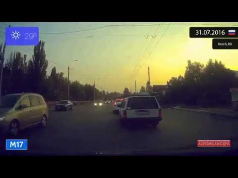 Driving through Kerch (Russia) from Port Krym to Oktyabrske 31.07.2016 Timelapse x4