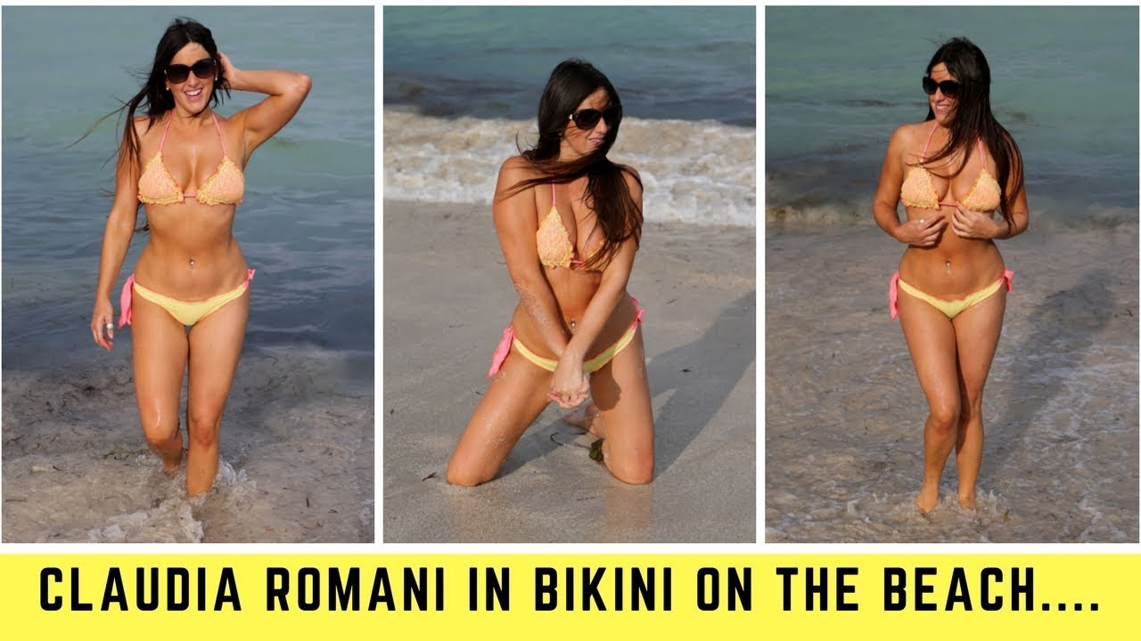 d197d6063 Claudia Romani in Bikini on the Beach in Miami 2017 - YouTube