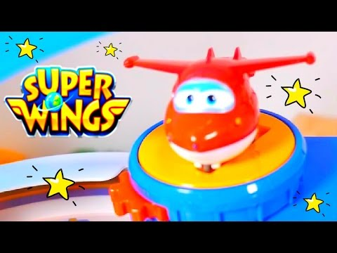 SUPER WINGS Toys & Toy CARS In Kids Videos! Toy Airport SUPER WINGS Games With Kinetic Sand