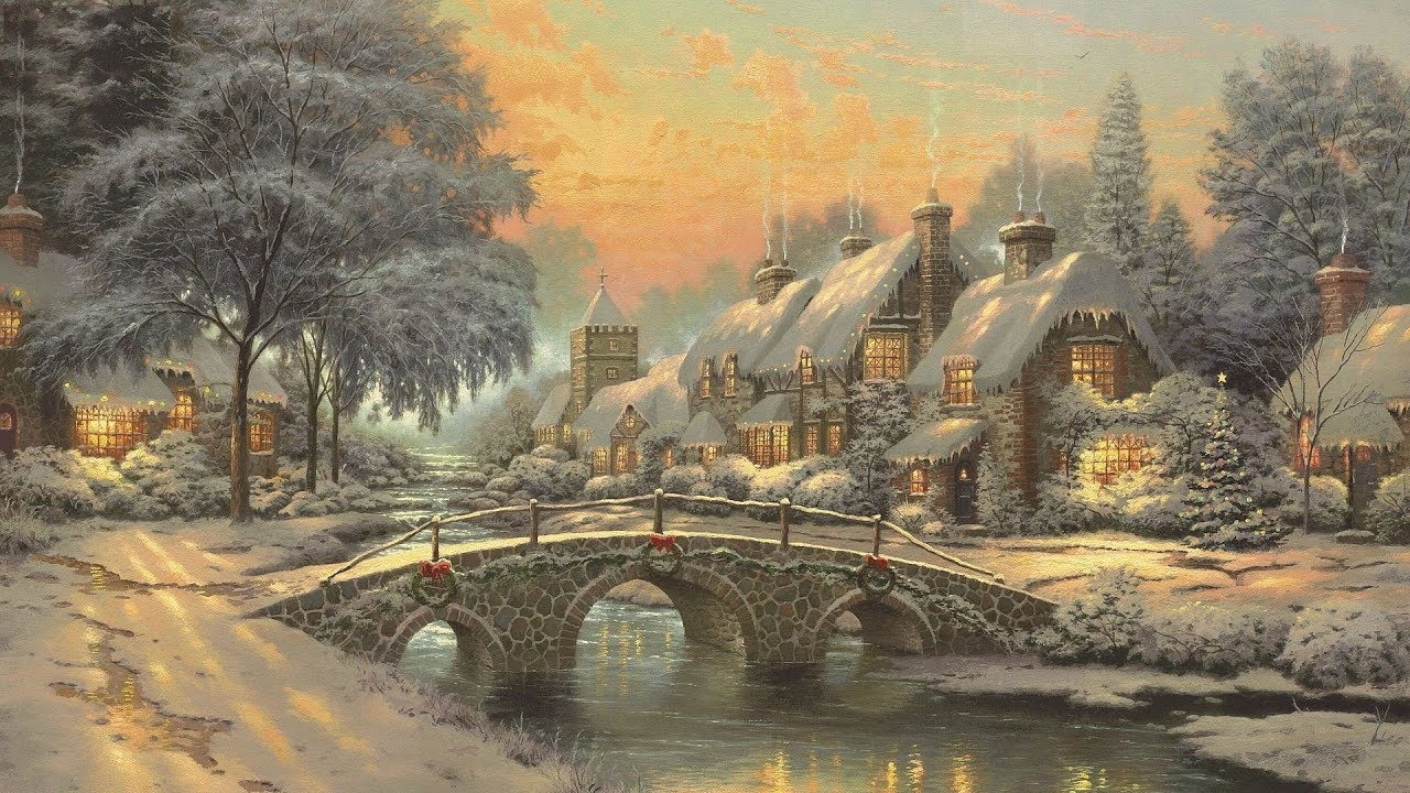 Cobblestone Christmas by Thomas Kinkade - YouTube