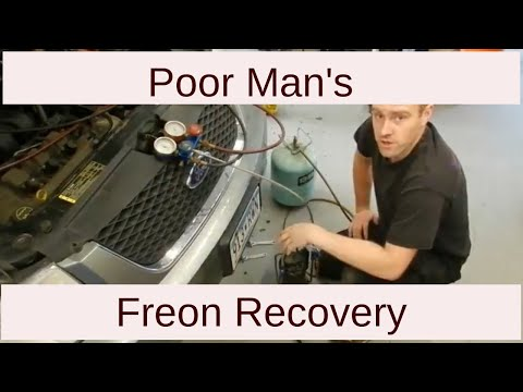 Freon Recovery On The Cheap Homemade Air Conditioning Recovery Machine