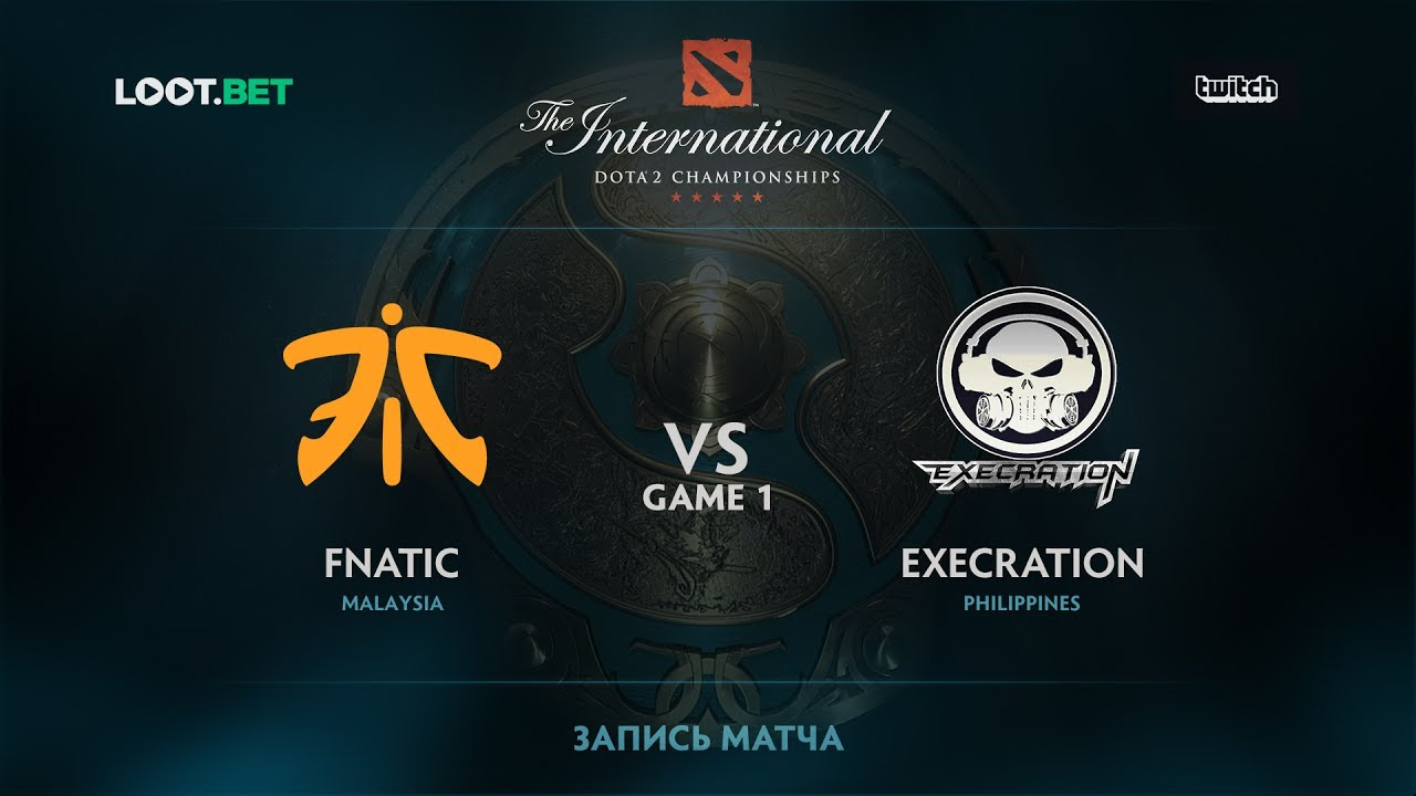 Fnatic vs Execration, Game 1, The International 2017 SEA Qualifier