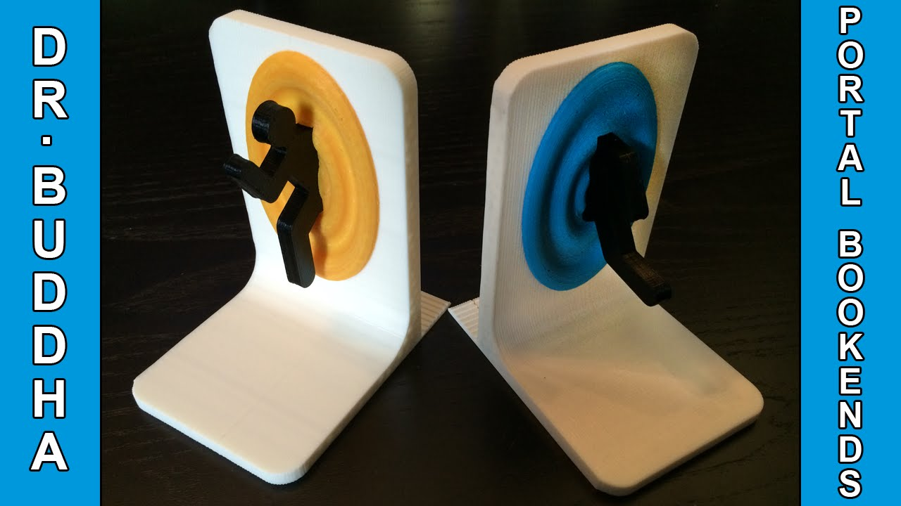 3d printer in action portal bookends youtube - Portal bookend ...