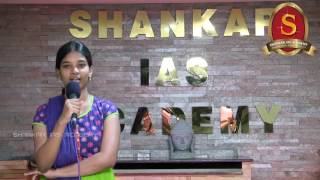 Ilakiya Victoria - UPSC CSE 2016 topper (AIR 298) from Shankar IAS Academy