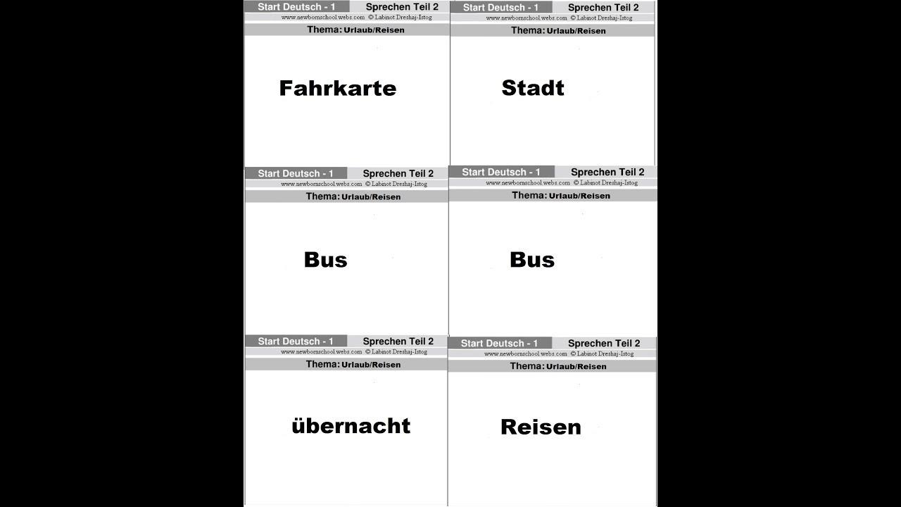 Goethe Zertifikat A1 Start Deutsch 1 Mündlicher Teil Sprechen 1 Und