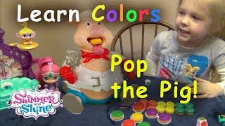 Baixar LEARN COLORS IN SPANISH!  SHIMMER AND SHINE  join Hudsen playing POP THE PIG!