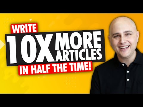 How To Write 10X MORE Blog Posts In HALF The Time Using AI Artificial Intelligence 🔥