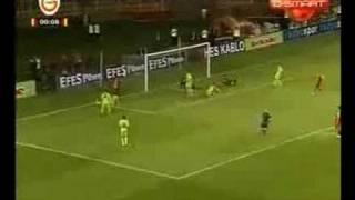 Galatasaray 2 - Steaua Bükreş 2 ( Özet)