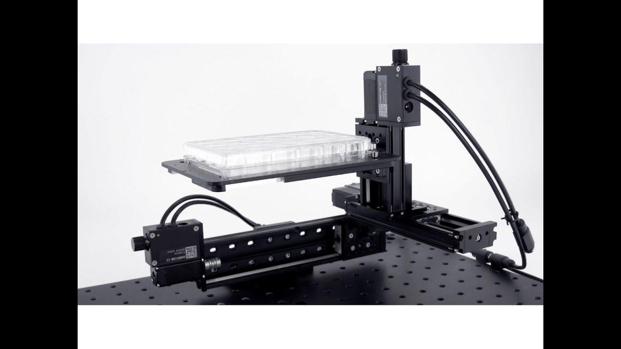 Media: Custom XYZ Gantry with Adaptor for an SBS Standard