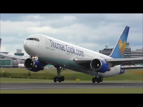Close Up RWY23L Take Off's at Manchester Airport   04/08/15