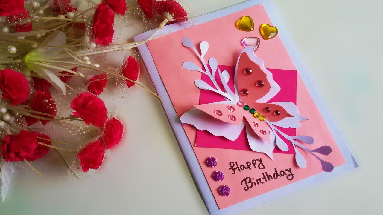 most beautiful birthday card making idea very easy  youtube