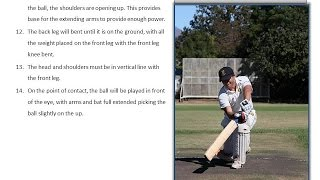 Cricket Batting Tips - How to play all the cricket shots using perfect technique from a side on view