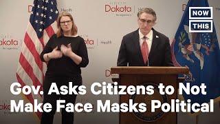 North Dakota Gov. Pleads to Stop Politicizing Face Masks | NowThis