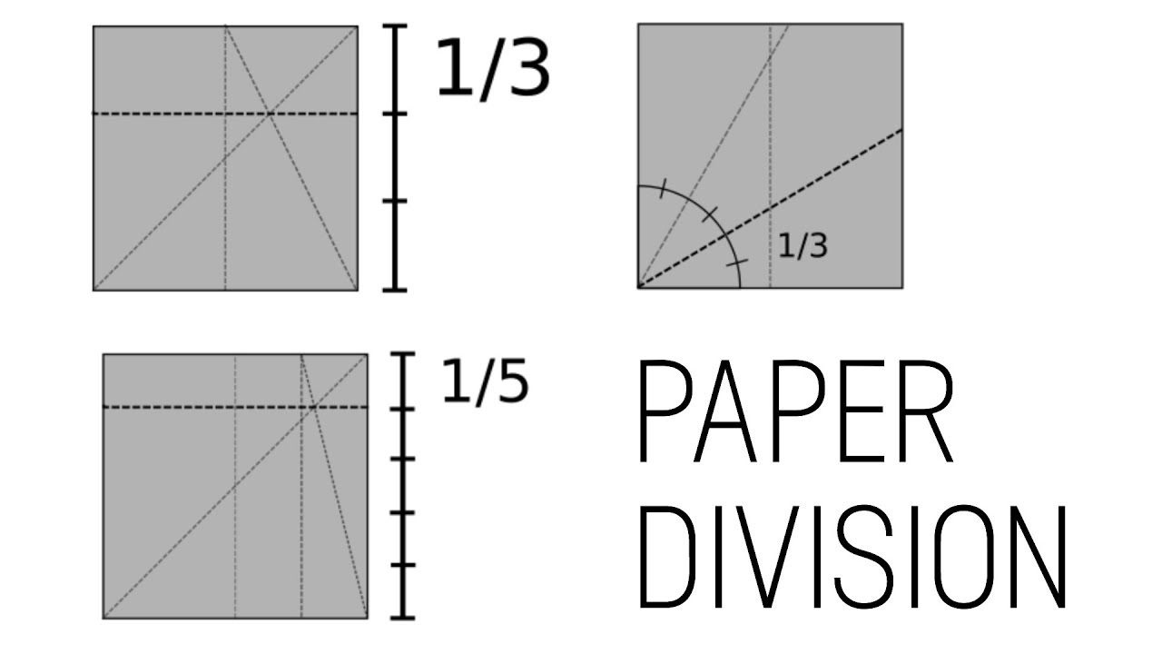 ORIGAMI Paper Division Thirds And Fifths