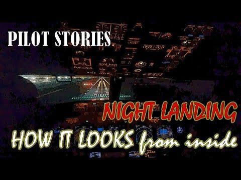B737 800 night landing