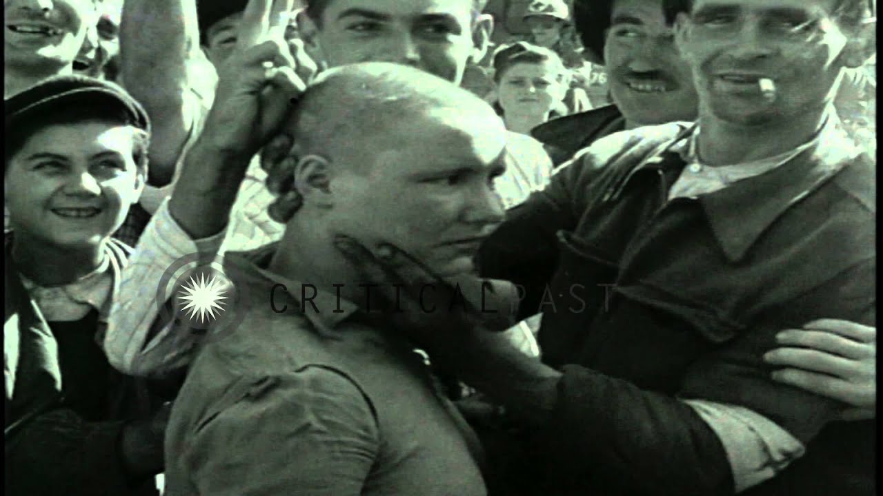Women shaved heads nazi