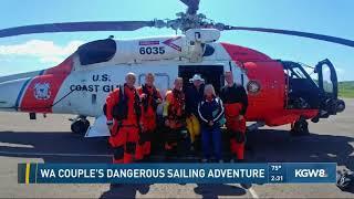 WA couple's dangerous sailing adventure