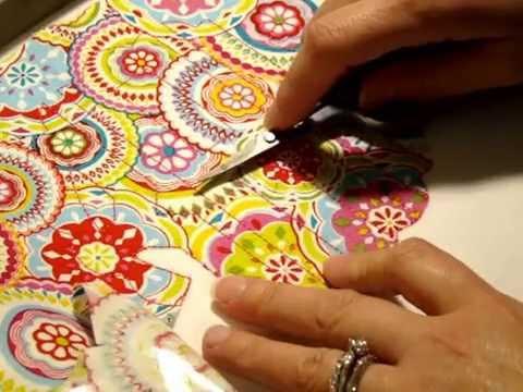 How to Trim Fabric on Scallop Circle Applique Alphabet