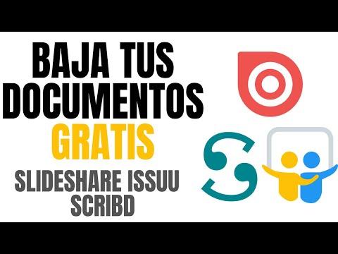 ✅ Descargar / ver documentos de SCRIBD, SLIDESHARE, ISSUU, ACADEMIA, DOCSITY LEGALMENTE