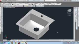 3D моделирование AutoCAD. Раковина в автокад