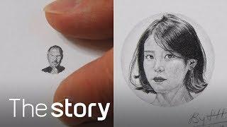 스티브 잡스, 아이유... 세상에서 제일 작게 그린 그림 등장! : 나노드로잉 심현대 (ENG/KOR/JPN sub)