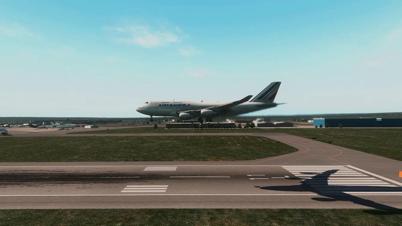AIRFRANCE 747-400 approaching Brasilia Brazil [X-Plane 11]