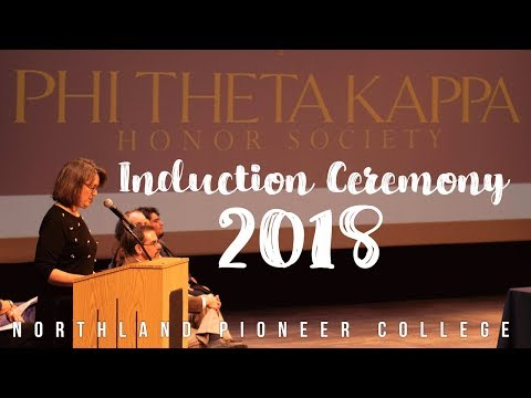 PTK Induction Ceremony 2018 Northland Pioneer College