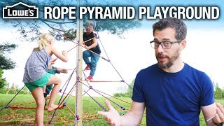 How to Build a Rope Pyramid Playground (w/ I Like To Make Stuff)