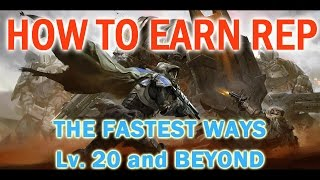 How to Quickly Earn Faction REPUTATION in Destiny. (MANY WAYS)