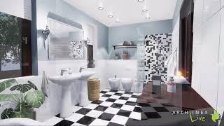 Badezimmer Einrichtung wird lebendig