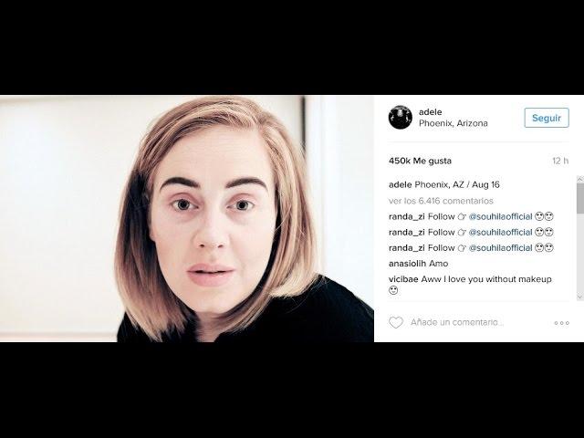 Adele soprende a todos con un vídeo suyo sin maquilaje