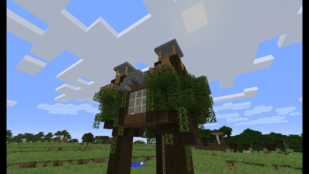 minecraft tutorial how to build an easy and cool tree house youtube - Easy Kids Tree House